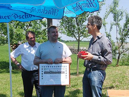20-jähriges Firmenjubiläum SR-Erodiertechnik - Auszeichnung Gerhard Repert